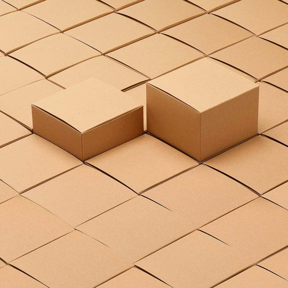 MESHA Kraft Boxes 5 x 5 x 3.5 Inches, Brown Paper Gift Boxes with Lids for Gifts, Crafting, Cupcake Boxes (10) 8976546548992