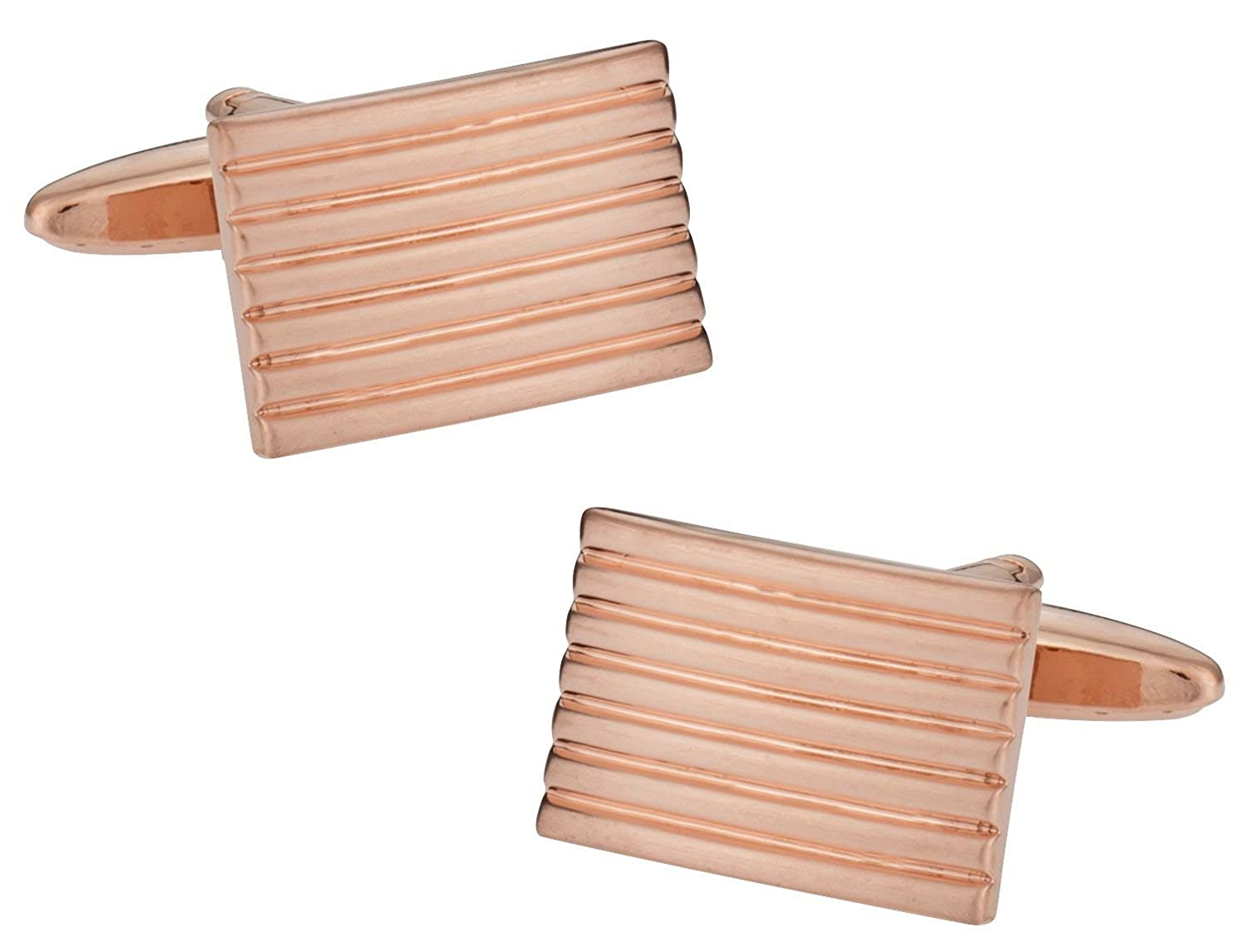 Cuff-Daddy Rose Gold Lined Cufflinks with Presentation Box