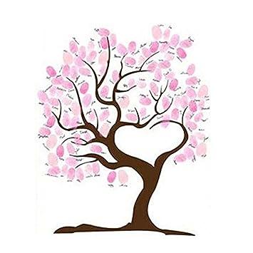 Amazon De Swirlcolor Hochzeits Fingerabdruck Baum Signatur