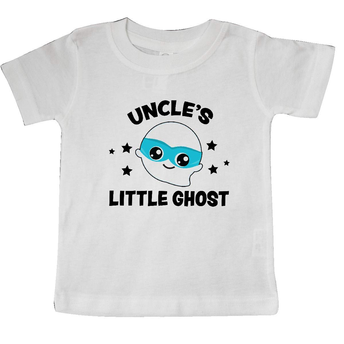 inktastic Cute Uncles Little Ghost with Stars Baby T-Shirt