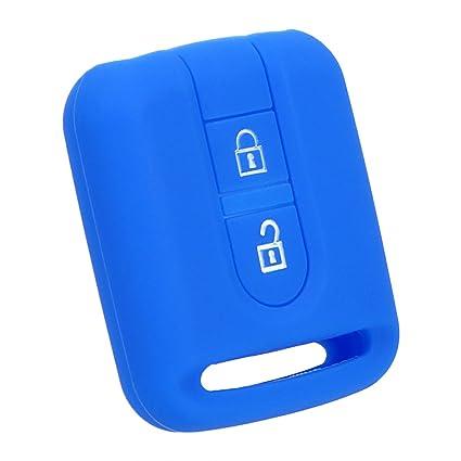 Carcasa de Silicona para Llave de Coche, 2 Botones, para Nissan, Color Azul