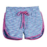 Beachcombers Girls Polyester/Spandex Mermaid Track Shorts With Elastic Waist Band Pink Medium