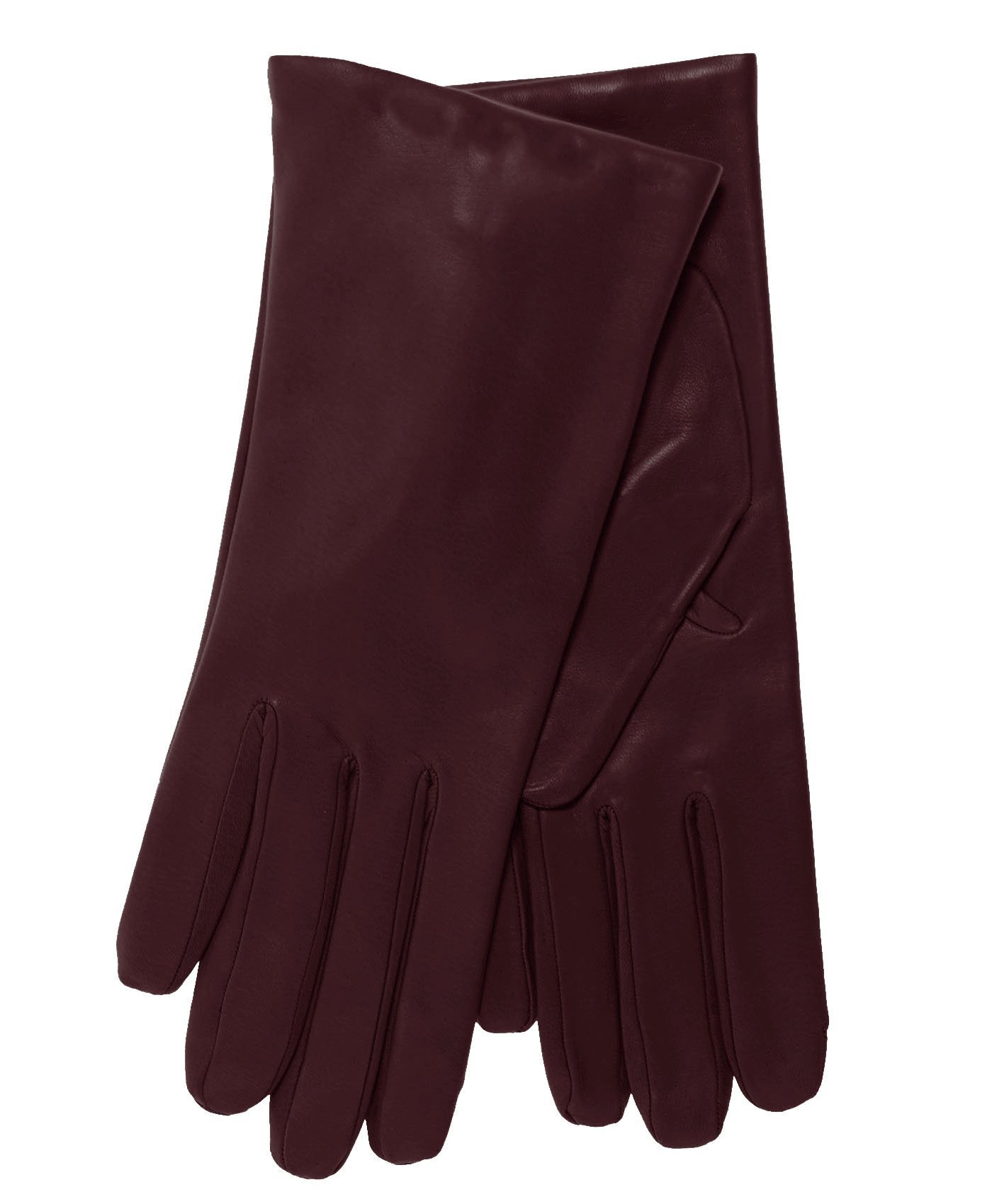 Fratelli Orsini Everyday Women's Italian Cashmere Lined Leather Gloves Size 7 1/2 Color Cordovan by Fratelli Orsini Everyday