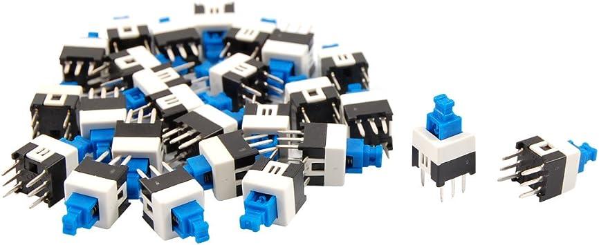 10PCS 7 x 7mm PCB Tact Tactile Push Button Switch Self Lock 6 Pin DIP✔ZT