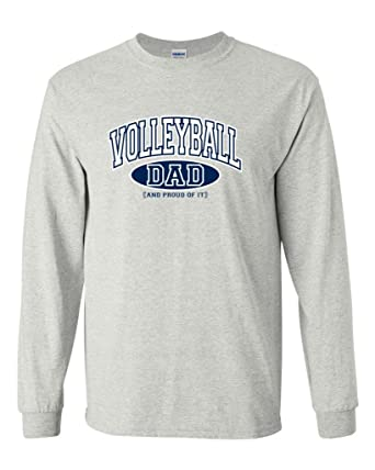 661b8a68 Amazon.com: Volleyball Dad and Proud of It Long Sleeve T-Shirt: Clothing