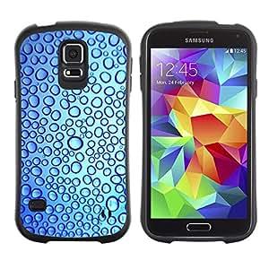 """Pulsar iFace Series Tpu silicona Carcasa Funda Case para Samsung Galaxy S5 , Gotas Reflexión del agua dulce azul"""""""