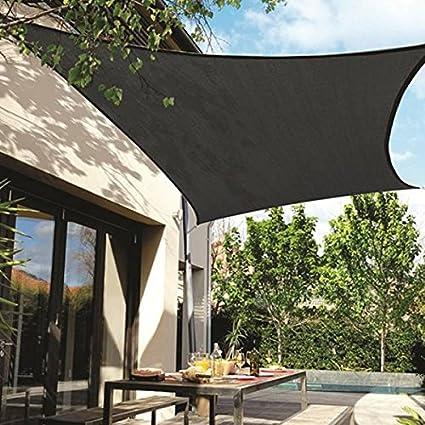 Frilivin Shade Sail 75% UV Block Mesh Net Plant Cover Outdoor Garden Canopy  Awning Black