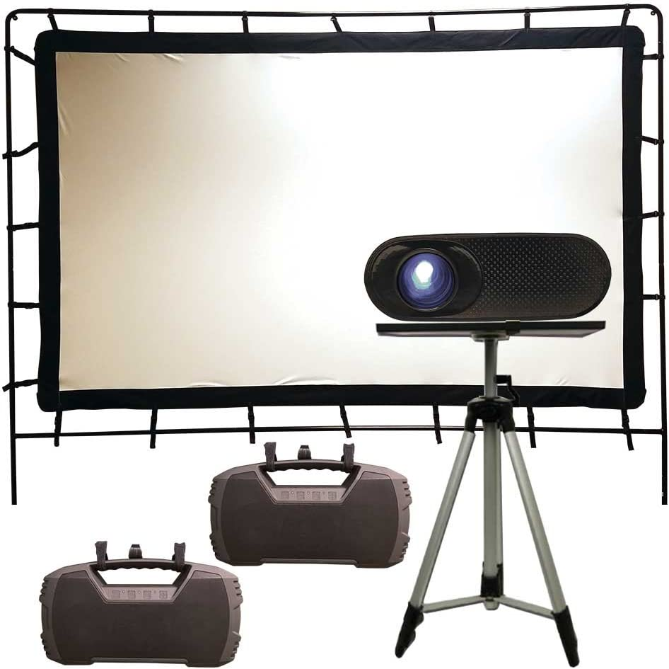 Total HomeFX Outdoor Projection Pro Theatre Kit, HDMI and Bluetooth Capable
