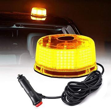 240 LEDs Light Bar Roof Top Emergency Beacon Warning Flash Strobe Plow Lamp Amber