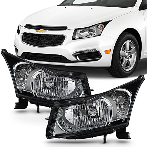 For 2011 2012 2013 2014 2015 Chevy Cruze Clear Headlights Driver + Passenger Side Replacement