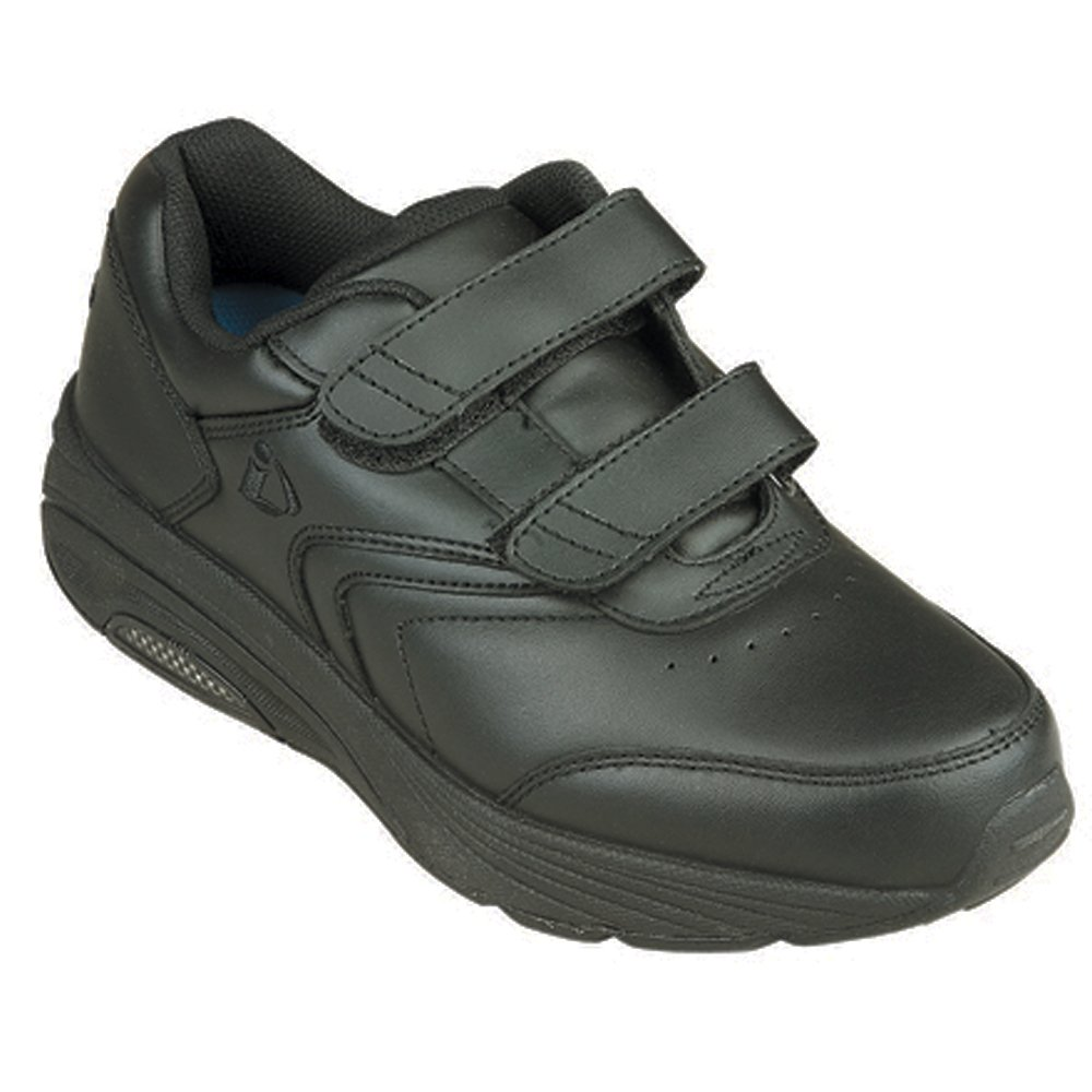 InStride Newport Women's Comfort Therapeutic Extra Depth Walking Shoe: Black 7.0 Wide (D) Velcro