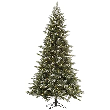 Amazon.com: Vickerman 75' Frosted Balsam Fir Artificial Christmas ...