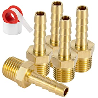 Pack of 2 Joywayus Brass Hose Barb Fitting,3//8 Barb x 3//8 NPT Female Pipe Fitting Adapter
