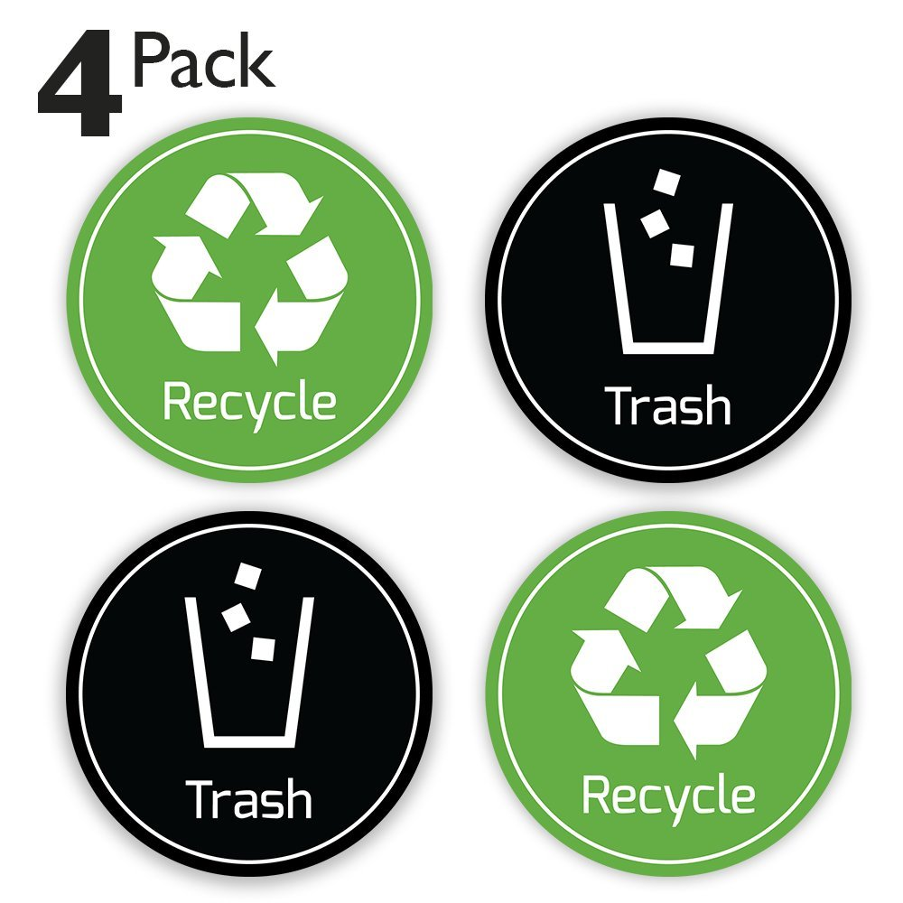 Store Sign Stickers Recycle Trash Bin Logo Sticker Other Wall26