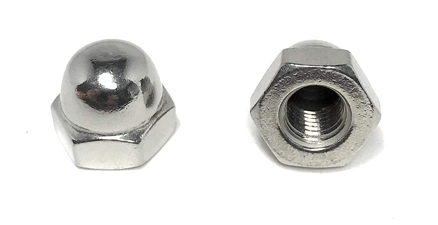 5//16-24 Acorn Cap Nuts 18-8 Stainless Steel Fine Thread UNF 10 Pieces