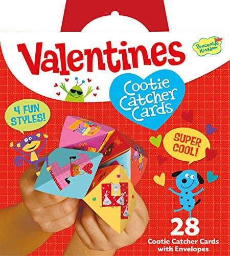 Peaceable Kingdom, Card Pack Cootie Catchers Valentines