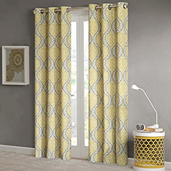 Intelligent Design Yellow Curtains For Living Room Global Inspired Grommet Window Bedroom