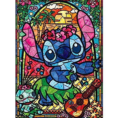 Diamond Painting Kits for Adults, DIY 5D Round Full Drill Art Perfect for Relaxation and Home Wall Decor(Stitch, 12x16inch)