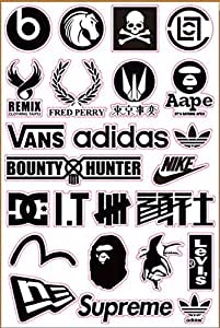Amazon.com: Brand Logo Bape Undefeated Skateboard Sticker