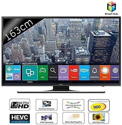 Samsung UE65JU6400KX - Televisor UHD 4K, Upscaling, Pantalla LED de 65 Pulgadas, 1080 píxeles, sintonizador TNT, TV SoundConnect, Engine 4 entradas HDMI y 3 Puertos USB, WiFi: Amazon.es: Electrónica