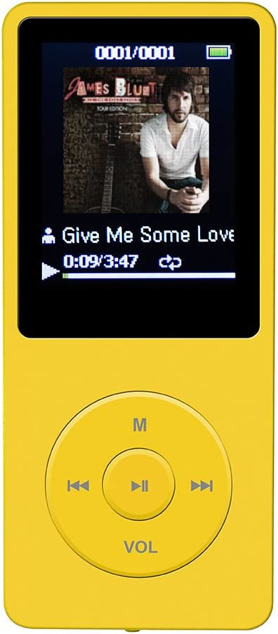 AGPTEK 8GB MP3-Player 70 Stunden Wiedergabe Farbe Marineblau MP3 ...