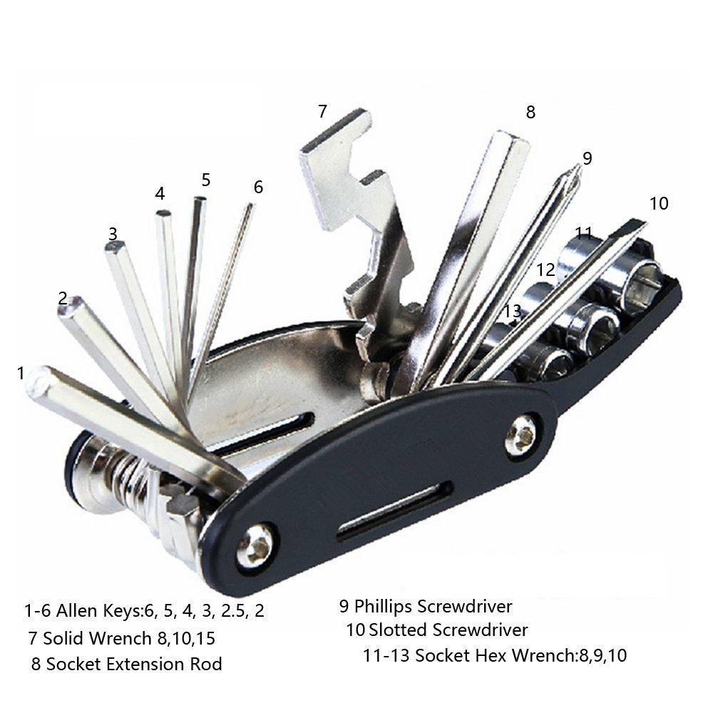 Portable 15 in 1 Multi-function Repair Tool Kit For MTB Bike Bicycle Cycling