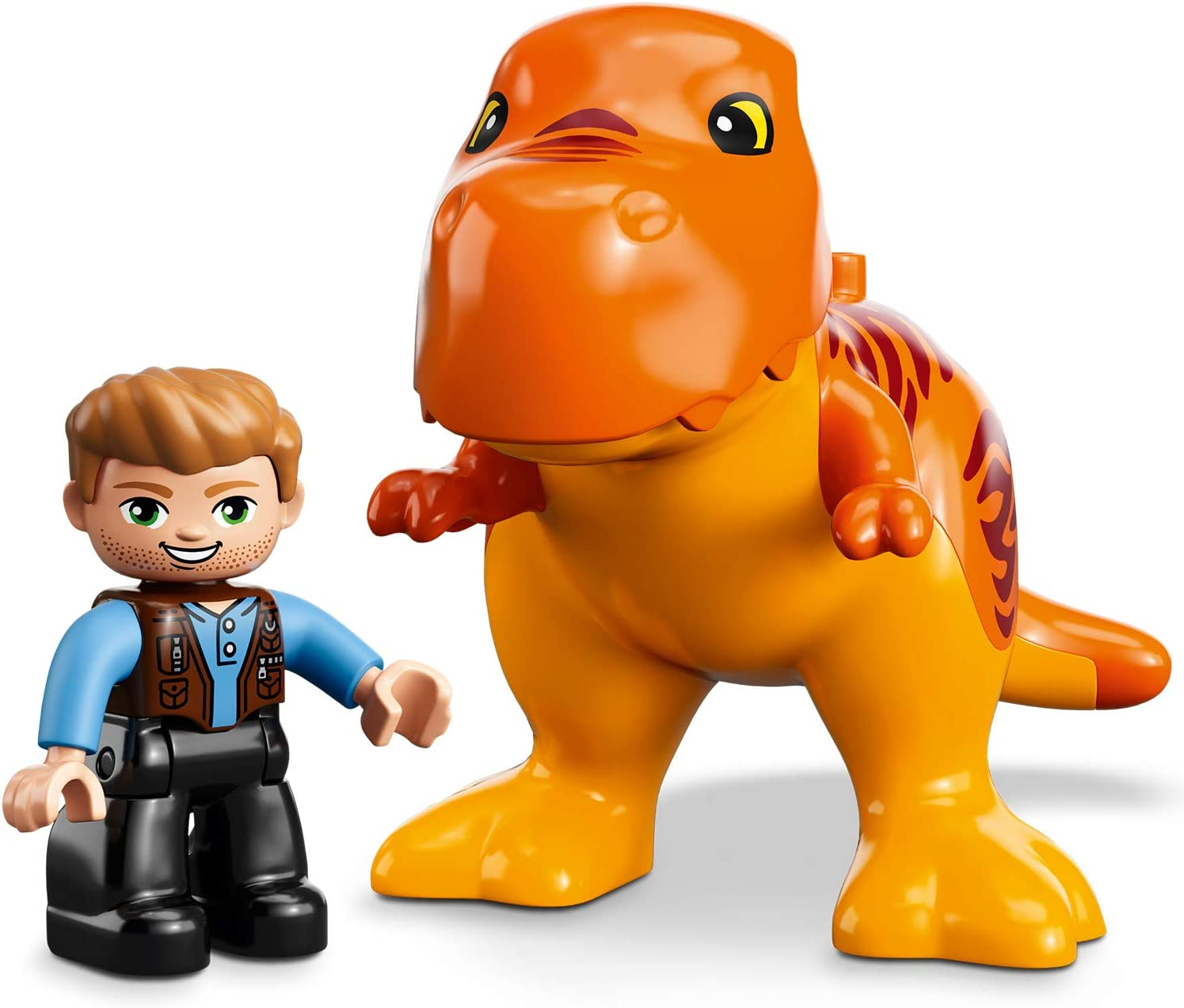 rex Tower Owen Grady Minifigure Owen Grady Minifigure Dinosaur Figure LEGO 10880 DUPLO Jurassic World T and Toy Car Building Set for Preschool Kids