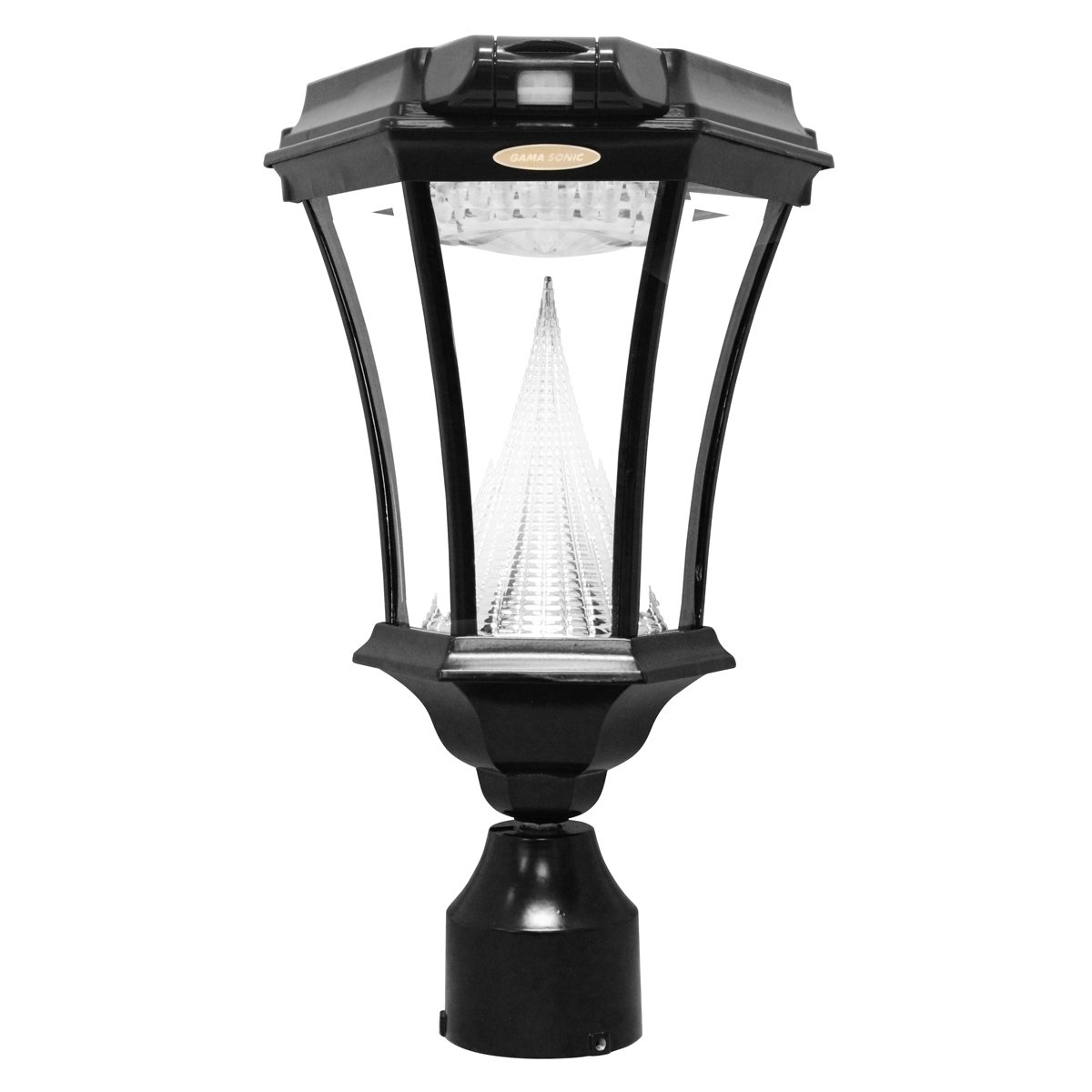 Amazon gama sonic victorian solar outdoor led light fixture amazon gama sonic victorian solar outdoor led light fixture bright white leds polepostwall mount kit black gs 94fpw garden outdoor aloadofball Image collections