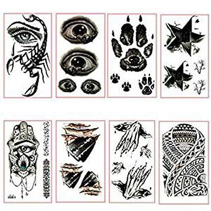 GGSELL 8 piezas de tatuajes temporales para Halloween, huella de ...