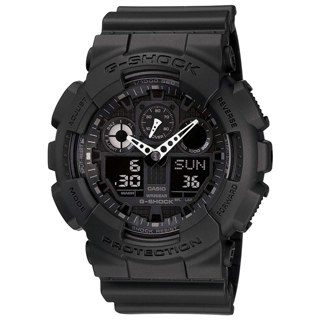 61e6f698fdb Buy Casio G-Shock Analog-Digital Black Dial Men s Watch - GA-100-1A1DR  (G270) Online at Low Prices in India - Amazon.in