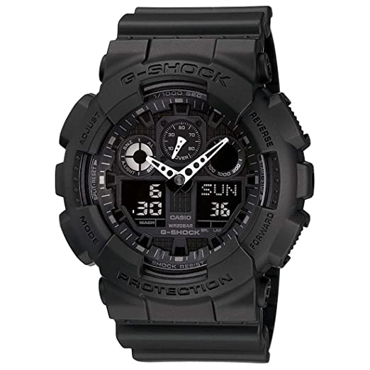 3ab245470e8 Buy Casio G-Shock Analog-Digital Black Dial Men s Watch - GA-100-1A1DR  (G270) Online at Low Prices in India - Amazon.in