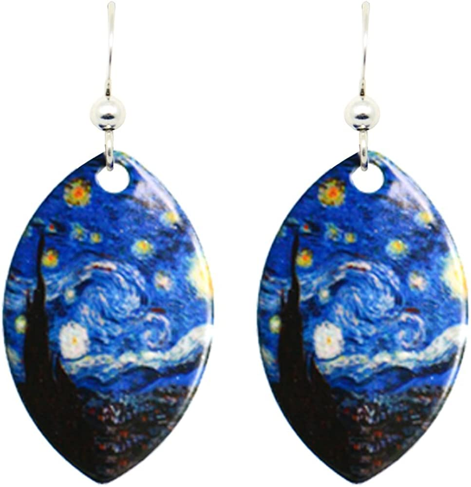 Tardis Earrings,glass dome Stud Earrings,photo Stud Earrings,glass dome Earrings,Starry Night Tardis photo Stud Earrings art Stud Earrings photo jewelry ot75 Starry Night Tardis Stud Earrings