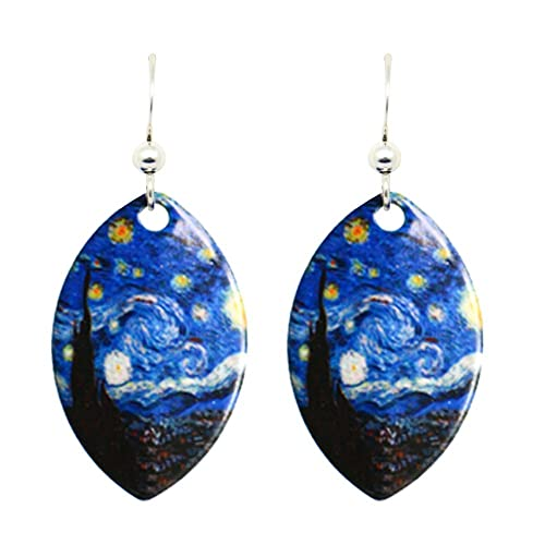 0cc8ed82c52db Starry Night Van Gogh Earrings by d'ears Non-Tarnish Sterling Silver French  Hook Ear Wire