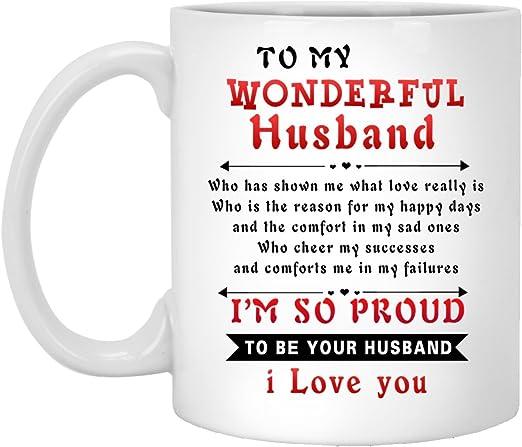 TO MY HUSBAND PERSONAL SAYING LOVE WIFE CUSTOM MADE CERAMIC COFFEE MUG CUP