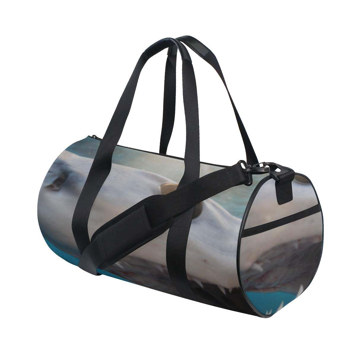 Fierce Awful Shark Custom Multi Lightweight Large Yoga Gym Totes Handbag Travel Canvas Duffel Bags With Shoulder Crossbody Fitness Sport Luggage For Boy Girl Men Women