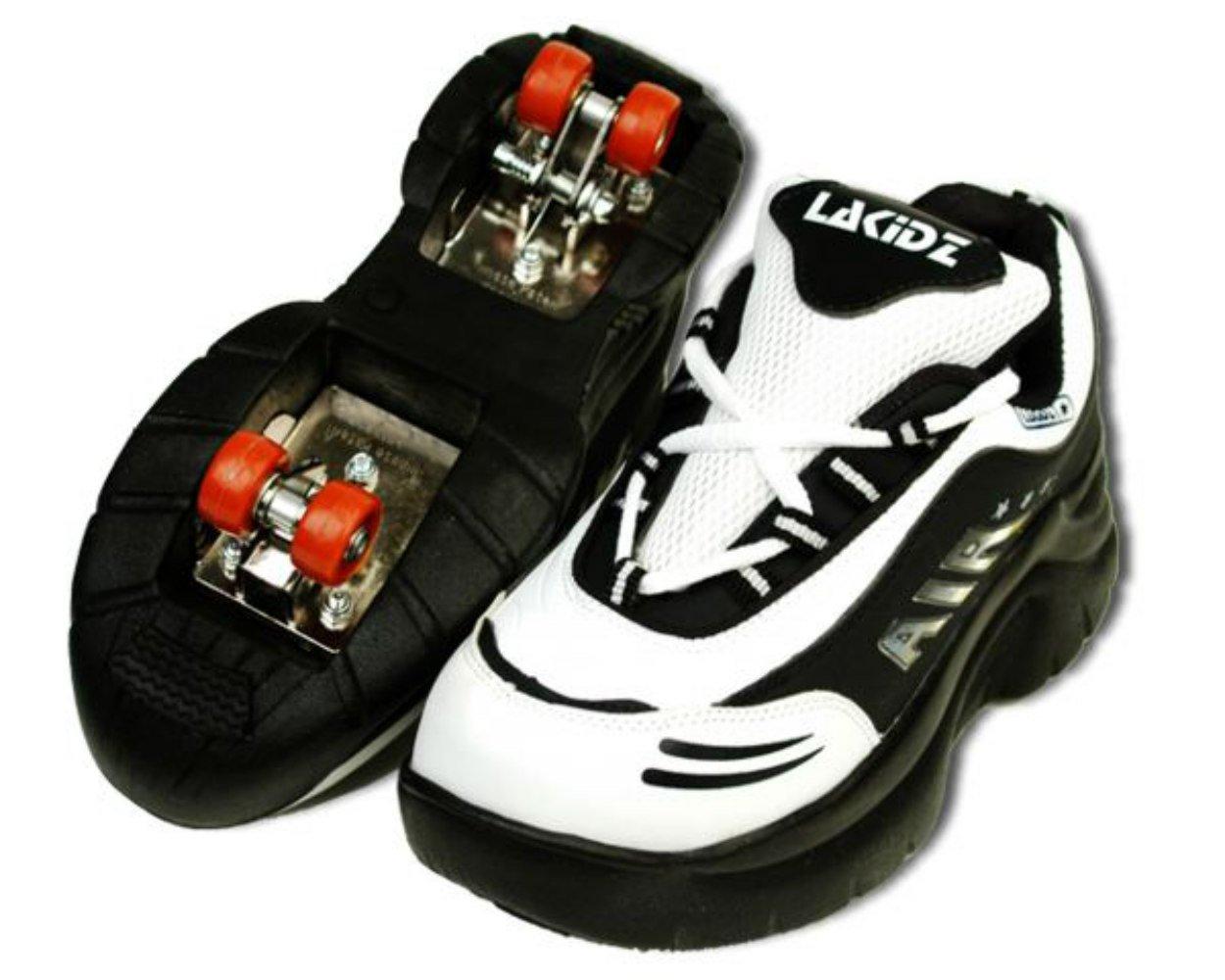 La Kidz Double Retractable Lined 4 Wheels Roller Skates Sneakers Shoes For Boy S Girl S Kid S Buy Online In Samoa At Samoa Desertcart Com Productid 75112048