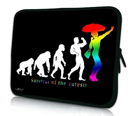 992b31b7b1 Luxburg® design housse sacoche pochette pour ordinateur portable 8 pouces,  motif: Arc en
