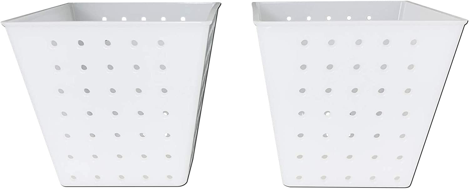 Cheese Making Cheese Molds Valencay for Soft and Hard Cheeses, Ricotta - Set of 2 Pyramid Square Cheese Molds