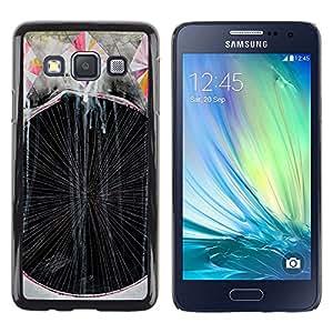 Be Good Phone Accessory // Dura Cáscara cubierta Protectora Caso Carcasa Funda de Protección para Samsung Galaxy A3 SM-A300 // Art Painting Lines Stripes