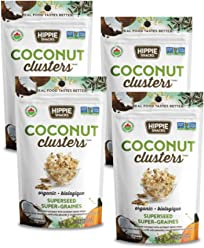 Hippie Snacks Organic Coconut Clusters - Superseed, 4 x 56 gram pack