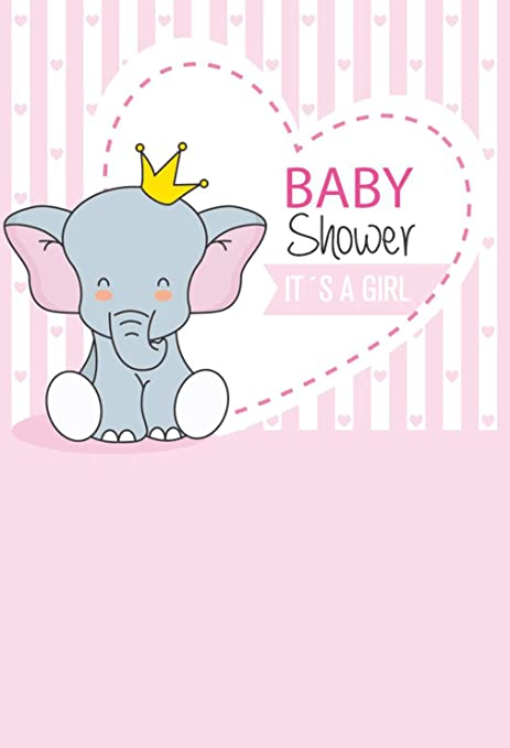 Amazon Com Baby Shower Girl Photo Backdrop Elephant Balloons White