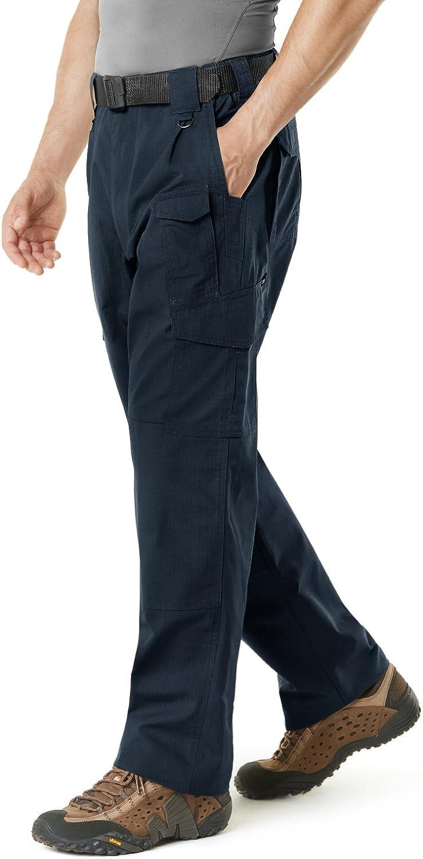 CQR Mens Tactical Pants Water Repellent Ripstop Cargo Pants Lightweight EDC Hiking Work Pants Outdoor Apparel