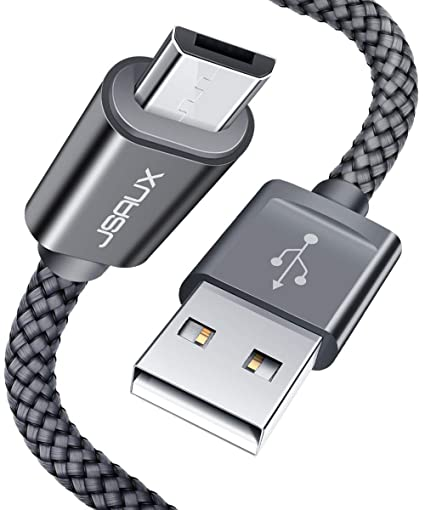 4dcd94045eff06 Amazon.com: JSAUX Micro USB Cable Android, (2-Pack 6.6FT) Micro USB ...