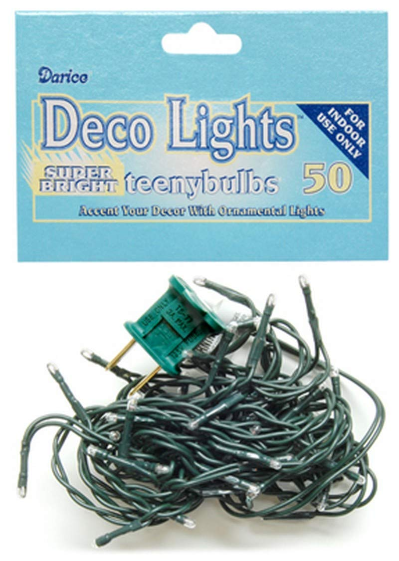 50 MLT652 Country Crafts Teeny Lights Green Cord