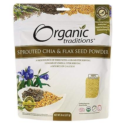 Tradiciones orgánicos brotado Chia/Lino Semillas de 8 oz ...