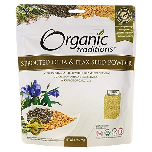 Organic Traditions Sprouted Chia & Flax Seed Powder