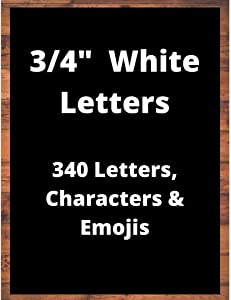 "NOVARENA Black or White or Gold or Pink Felt Letter Board Letters - 3/4"" or 1"" or 2""   340 or 300 or 186 Count Extra Set of Letterboard Letters, Numbers, Symbols & Emojis"