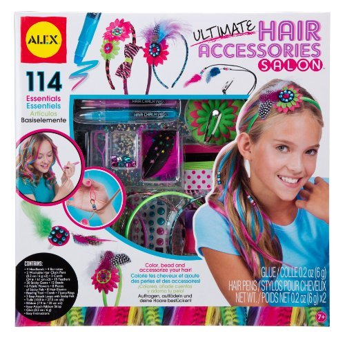 ALEX Toys Spa Ultimate Hair Accessories Salon Craft Kit by ALEX Toys (Alex Ribbon Headband)
