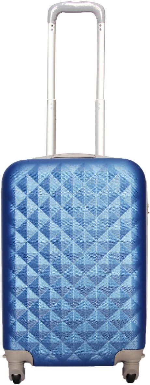 Maleta pequeña para Cabina rígida 4 Ruedas 360º Gira Equipaje de Mano Low Cost (Azul)