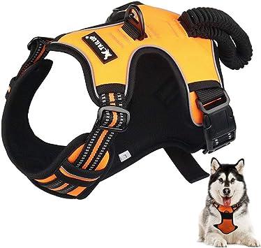 Arnés para perro con enganche frontal grande, arnés ajustable para ...